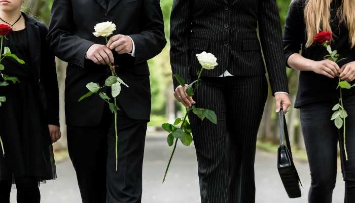 Klädsel på begravning